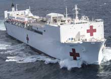The hospital ship USNS Mercy departs Naval Base San Diego in support of Pacific Partnership 2018, Feb. 23, 2018. Pacific Partnership, now in its 13th iteration, is the largest annual multinational humanitarian assistance and disaster relief preparedness mission conducted in the Indo-Pacific. U.S. Navy photo by PO2 Kelsey L. Adams